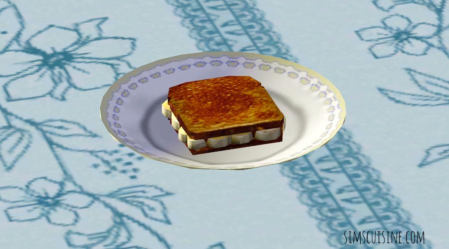Fried Peanut Butter and Banana Sandwich